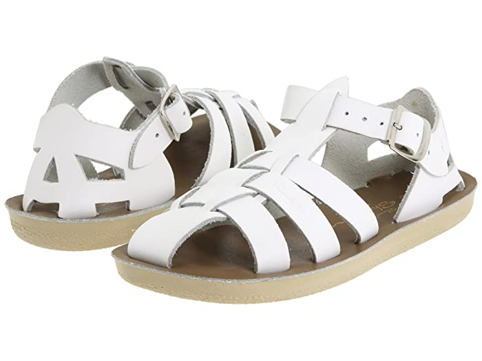 Salt Water Sandal by Hoy Shoes  Sun-San - Sharks (Toddler/Little Kid) (White) Kids Shoes