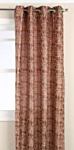 Editex Home Textiles Barbara Window Collection, Jacquard Burgundy, Window Panel - 52 x 63-inch