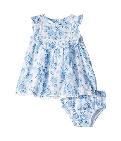 Mud Pie Muslin Floral Dress (Infant) (Blue) Girl