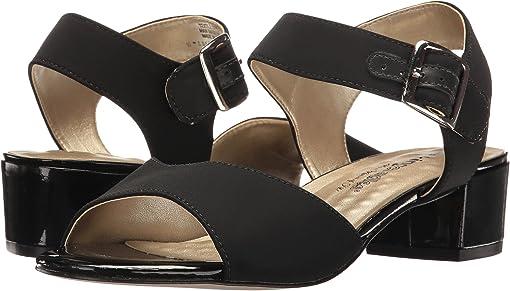 Black Micro/Black Patent Heel