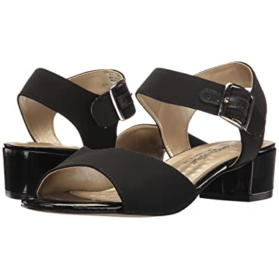 Walking Cradles Macau (Black Micro/Black Patent Heel) Women