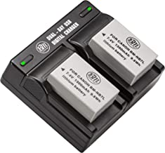 BM Premium 2-Pack of NB-7L Batteries and Dual Battery Charger Kit for Canon PowerShot G10, G11, G12, SX30 is Digital Cameras