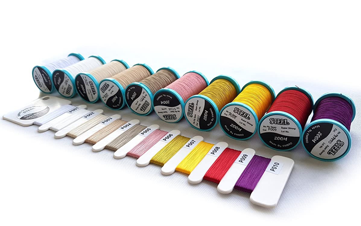 All Purpose Extra Strong Heavy Duty Bonded Sewing Thread (Spring) Great for Quilting, Leather and Denim Products. 10-Pack 50wt/3PLY, 218YD Each.