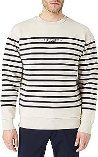Scotch & Soda Men's Yarn-Dyed Felpa Crewneck Sweat Sweatshirt