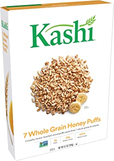 Kashi, Breakfast Cereal, 7 Whole Grain Honey Puffs, Non-GMO Project Verified, 9.3 oz