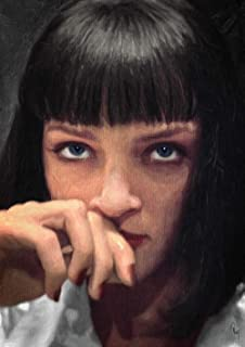 Zapista Mia Wallace Oil Painting Fine Art Print Pulp Fiction Movie Poster Home Wall Decor Unframed (14