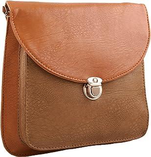 Fristo Women's Sling Bag (FRSB-060_Tan & Beige)