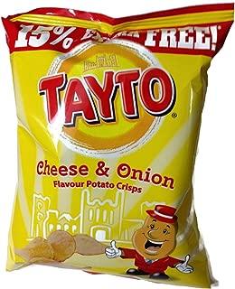 Tayto Irish Cheese & Onion Crisps - 12 Pack (12 X 37.5g Bags)