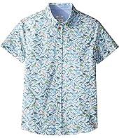 Paul Smith Junior - Short Sleeve Dinosaur All Over Printed Shirt (Big Kids)