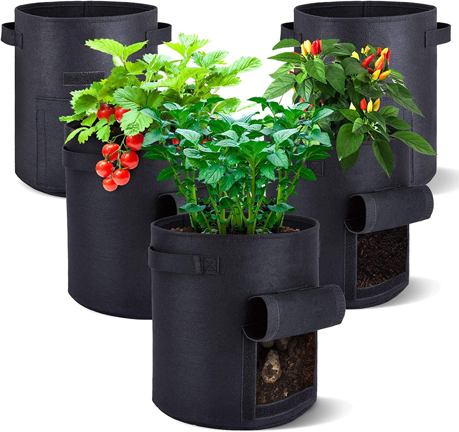 AIKEI 5-Pack Grow Popular Safety and trust shop is the lowest price challenge Bags 10 Gallon Double Premi Fabric Layers Pots