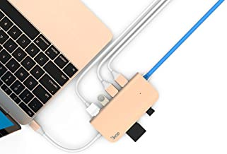Juiced Systems BizHUB USB-C Multiport Gigabit HDMI Hub, 3x USB 3.0 Ports, Gigabit Ethernet, HDMI 4K, SD/Micro SD, USB-C Power Delivery