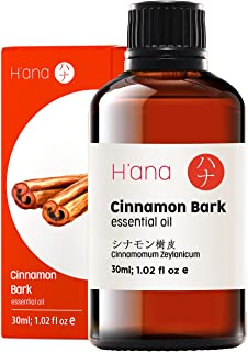 Hana Cinnamon Bark Essential Oil - Boosts Energy and Soothes Body Aches - For Stronger Workouts - 100 Pure Therapeutic Gra...