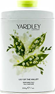Yardley of London Lily of the Valley Perfumed Talc, 7 Oz, Made in England - NEW FORMULA