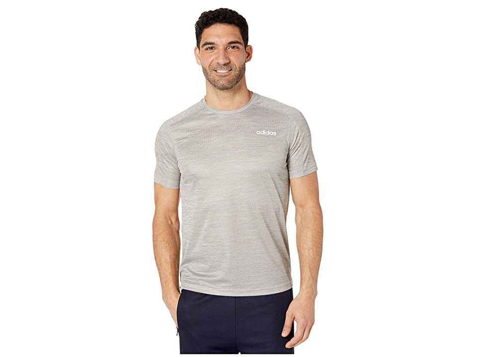 adidas Designed-2-Move Short Sleeve Heathered Tee (Medium Grey Heather) Men's T Shirt, Gray