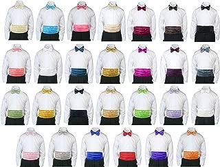 Formal Wedding Color Satin Bow tie & Cummerbund Set Only Boy Baby Toddler Sm-28