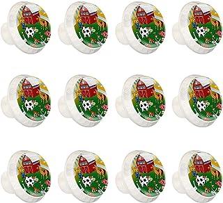 Boutons D'armoire 12 Pcs Poignés Poignée De Champignons Porte Poignées avec Vis pour Cabinet Tiroir Cuisine,Agriculteur pe...