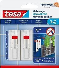 tesa® Verstelbare plakspijker voor tegels en metaal, zonder sporen te verwijderen, herbruikbaar (3 kg / 3 stuks = 6 spijkers)