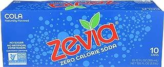 Zevia, Soda Zero Calorie Cola, 12 Fl Oz, 10 Pack