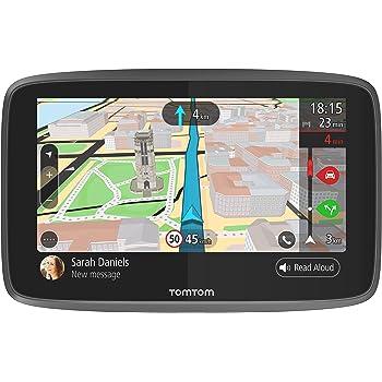 TomTom GO 6200, GPS para coche, 6 pulgadas, llamadas manos libres, Siri y Google Now, actualizaciones via Wi-Fi, traffic para toda la vida mediante tarjeta SIM, mapas mundiales, mensajes de smartphone: Tomtom: