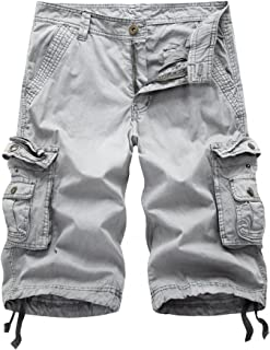 DONSON Mens Cargo Shorts Cotton Relaxed Fit Camouflage Camo Cargo Short