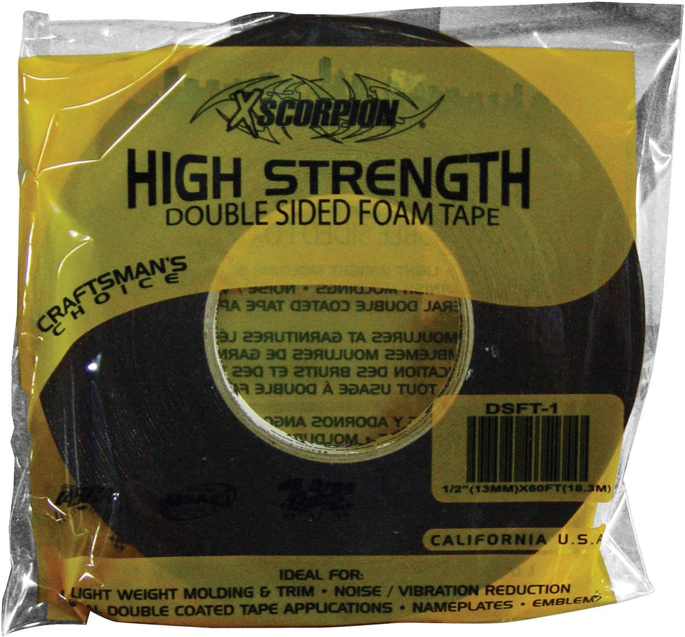 Xscorpion Dsft1 Double Sided free shipping Foam 60 All items in the store Tape Roll