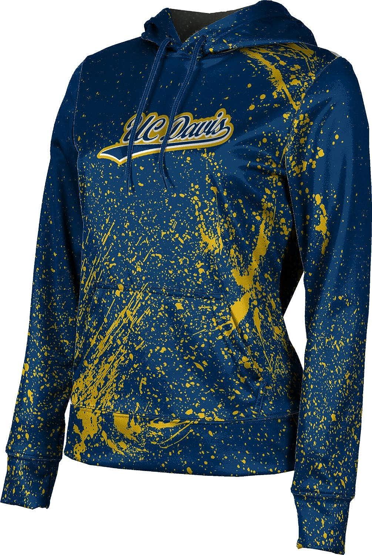 ProSphere University of California Davis Girls' Pullover Hoodie, School Spirit Sweatshirt (Splatter)