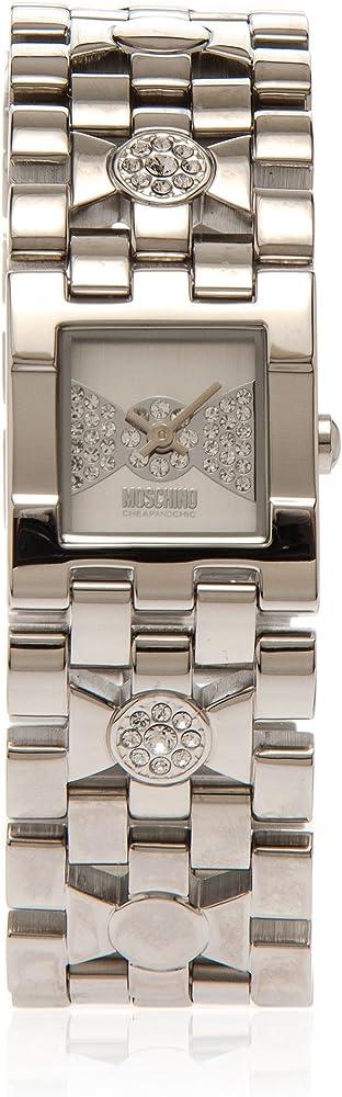 Moschino orologio per donna in acciaio inossidabile con cristalli swarovski MW0090