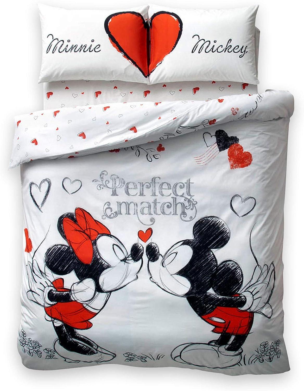 Exclusive Valentine's Day Gift Original Licensed Double Queen PERFECT MATCH 100% Cotton Ranforce Duvet Cover Bedding Set 4-Piece