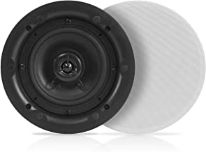"""Ceiling and Wall Mount Speaker - 5.25"""" Dual 2-Way Audio Stereo Sound Subwoofer Sound with Tweeter, 300 Watts, in-Wall & in-Ceiling Flush Mount for Home Surround System - 1 Pair - Pyle PWRC53 (White)"""