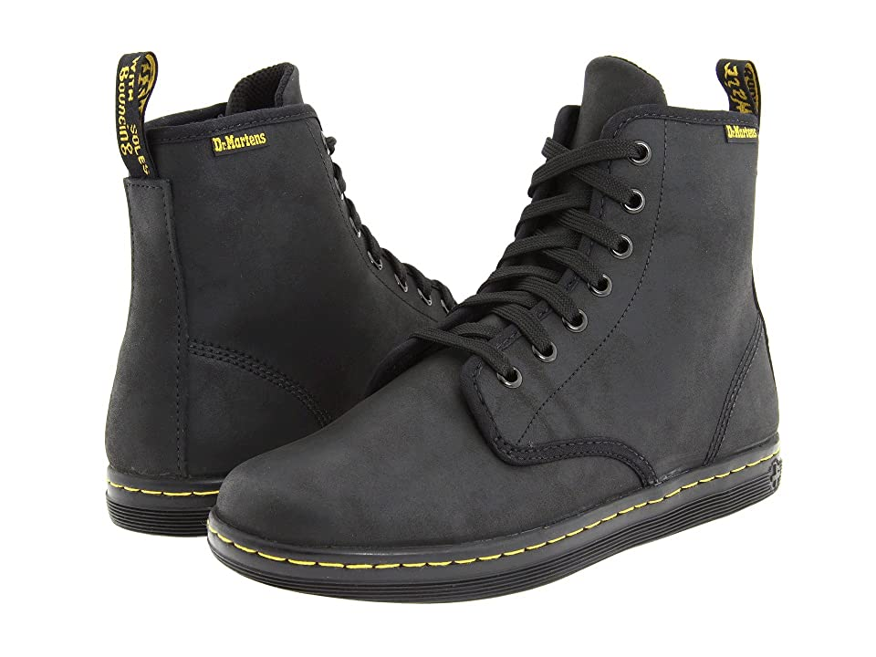 Dr. Martens Shoreditch (Black Greasy Lamper/Suede) Women