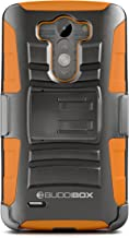 LG G3 Case, BUDDIBOX [HSeries] Heavy Duty Swivel Belt Clip Holster with Kickstand Maximal Protection Case for LG G3, (Orange)