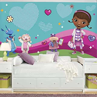 RoomMates Doc Mcstuffins And Friends  Removable Wall Mural - 10.5 feet X 6 feet