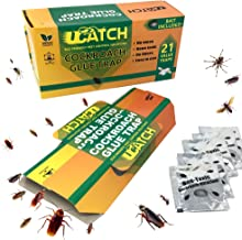 UCatch 21 Pack Cockroach Glue Trap, Bait Included, Effective Solution| Eco- Friendly, Non Poison Pest Control Products, Chemical Free, Non Toxic | Works on Crawling Insects, Bugs, Spiders, Ants