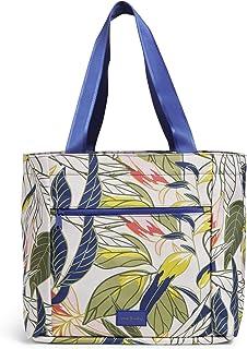 Vera Bradley Recycled Lighten Up Reactive Drawstring Family Tote Bag, Rain Forest Leaves
