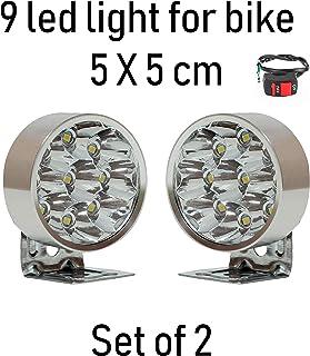 SaleOn™ 9 Round Fog Led Light for Bike Waterproof Off Road LED Fog Light Lamp(Silver/Set of 2)-871