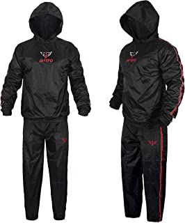 Jayefo Sauna Suit with Hood Full Body Sweat Suit Hot Waist Trainer Waterproof Non Rip Fitness Gym Running Boxing MMA Suit ...