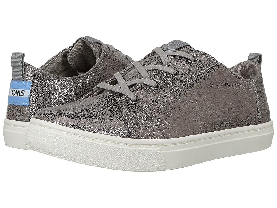 TOMS Kids Lenny (Little Kid/Big Kid) (Pewter Crackle Foil) Girl