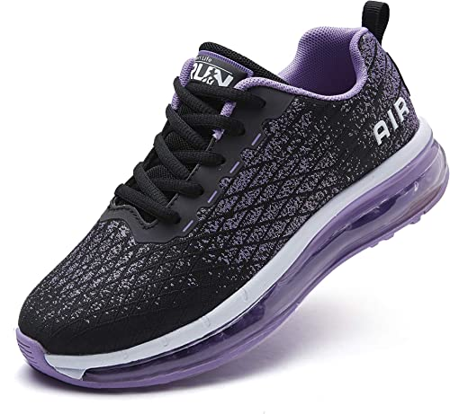 Azooken Chaussures de Course Homme Femme Chaussures de Sport Coussin d'air Baskets Loisirs Fitness Baskets en Plein A...