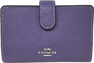 e96fd5e538447 Coach Crossgrain Leather Medium Corner Zip Wallet Light Purple F11484