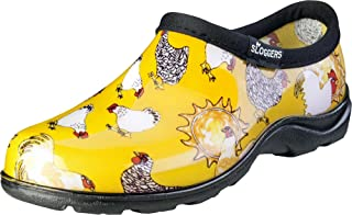 Sloggers Women's Waterproof Rain and Garden Shoe with Comfort Insole Chickens Daffodil Yellow Size 9 Style 5116CDY09