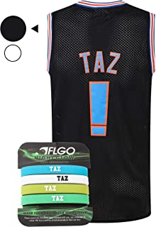 AFLGO Taz #! Space Basketball Movie Jersey Costume S-XXL 90S Costume Hip Hop Party Clothing Include Set Wristbands