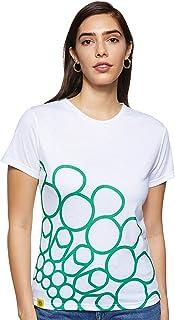 Expo 2020 Dubai Women's T-Shirt Made from Recycled Plastic Bottles - Green Quarter Logo