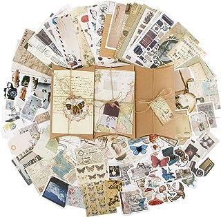 90pcs Autocollants de Scrapbooking Rétro Gommettes étiquettes, Stickers Vintage Scrapbooking DIY Album Photo pour Journal ...