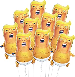 Angry Trump Baby Foil Balloons 4 Count 23in Cartoon Donald Trump Novelty Mylar Balloon for Party Procession Political Stat...