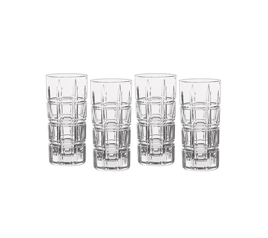 極めて重要な七時半四面体Marquis by Waterford Crosby Plaidのセット4?Highball Glasses One Size 40007132