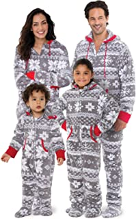 Family Pajamas Matching Sets - Nordic Fleece Christmas Onesie, Gray