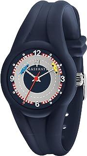 Maserati R8851135002 - Reloj de cuarzo para hombre, de plástico, de silicona, color azul