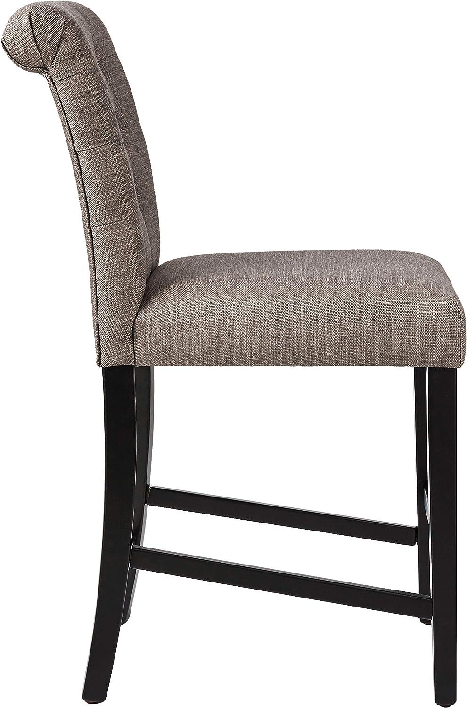 Ravenna Home Modern Barstool Set of 2 44.25H Grey Brand