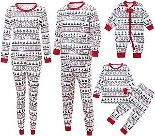 Navidad Familia Partido Traje para Papá Mamá Niños Bebé Ropa de Dormir Dos Pieza Conjunto Ropa de casa