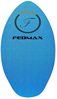 Fedmax Wood Skimboard with IXPE Foam Traction, No Wax Needed | Choose Size | Skim Board for Kids/Adults.